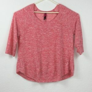 Pure Energy Pink 3/4 sleeve sweater Women Size 3